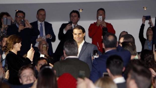 Nadal, a su llegada al Auditorio del ADDA en Alicante