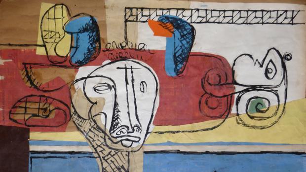 Collage «Taureau» (1960)