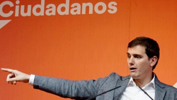 Albert Rivera, durante un mitin en Teruel, este miércoles