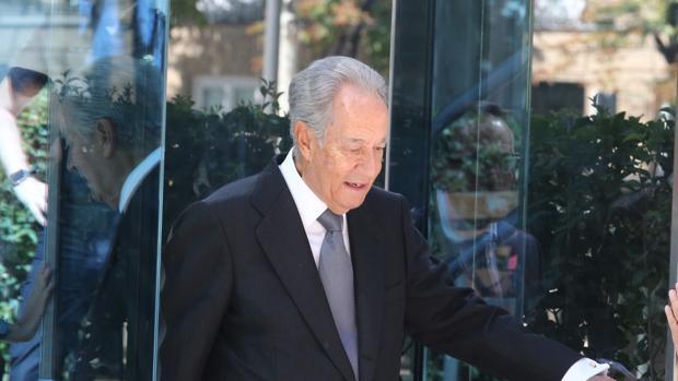Villar Mir, a su salida de la Audiencia Nacional tras declarar por la operación Lezo