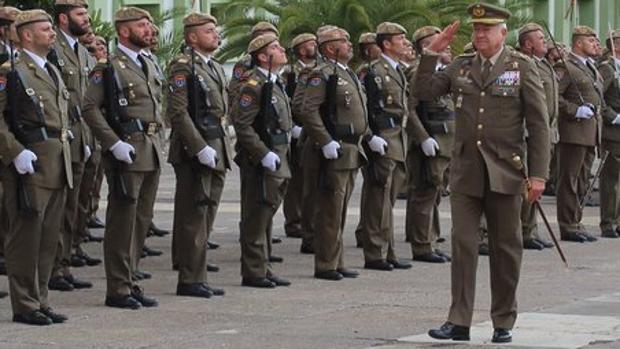 El teniente general Pedro Galán García en Fuerteventura en su último acto oficial en esta isla