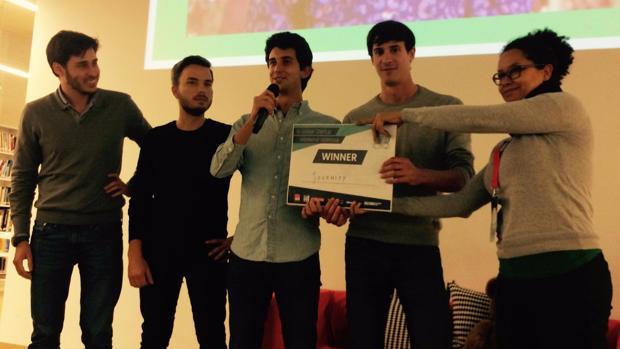 El equipo de la startup que ha creado la app Journify