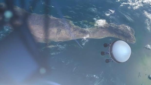 Simulación de un nanosatélite de Zero 2 Infinity lanzado desde el mar