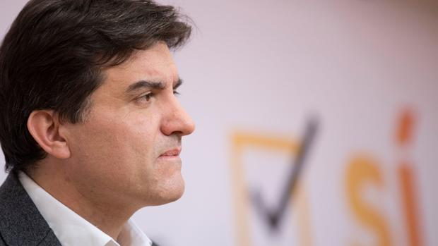 El portavoz republicano Sergi Sabrià hoy en Barcelona