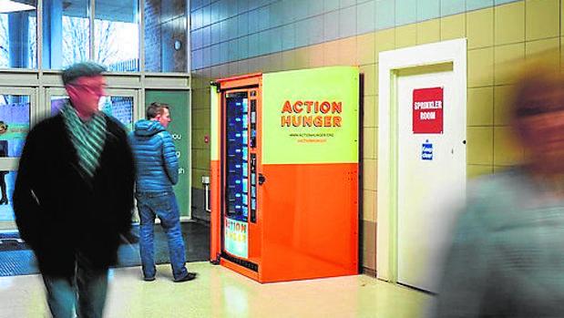 La primera máquina expendedora, en Nottingham