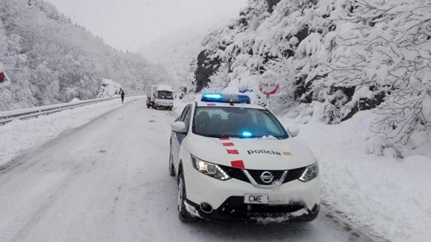 Una de las carreteras catalanas afectadas