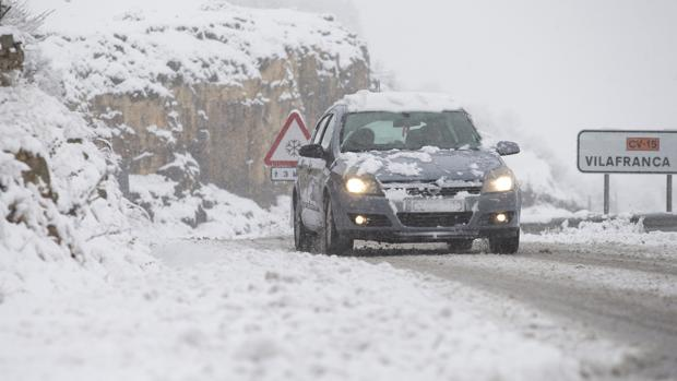Imagen de una carretera de la provincia de Castellón este fin de semana