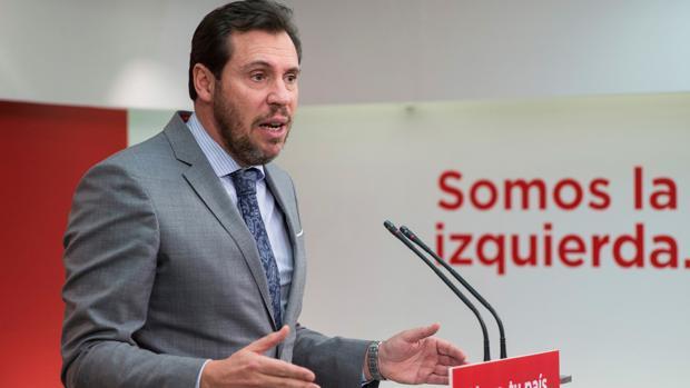 Óscar Puente, portavoz del PSOE