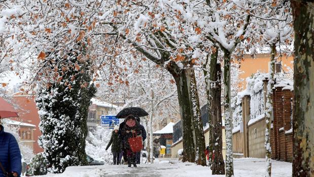 Nieve y hielo en las calles de Teruel