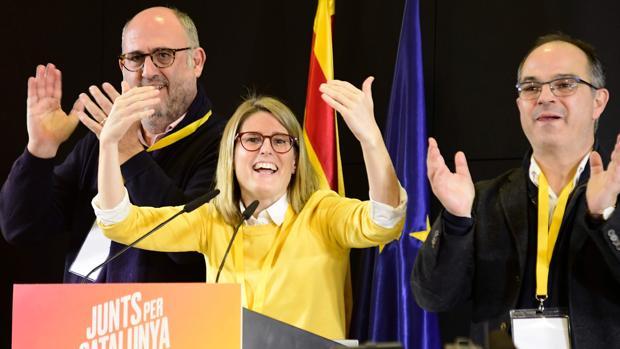 Elsa Artadi junto a Jordi Turull y Eduard Pujol