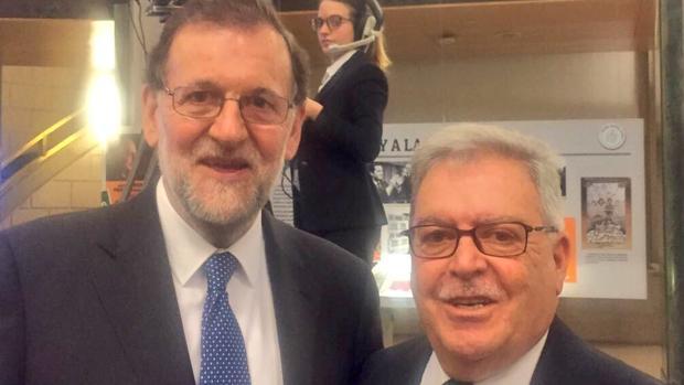 Mariano Rajoy y José Miguel Bravo en junio de 2017 en Madrid