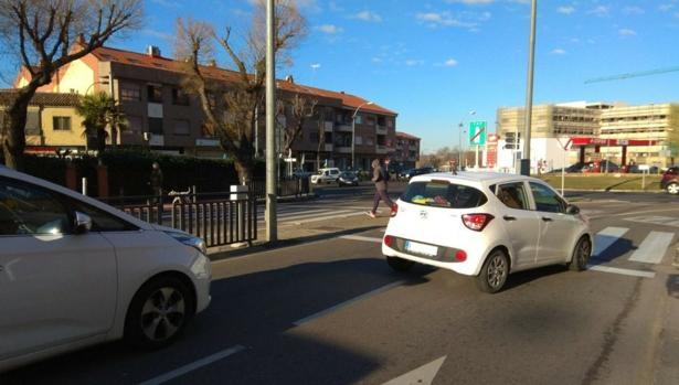 Paso de peatones donde ha ocurrido el atropello
