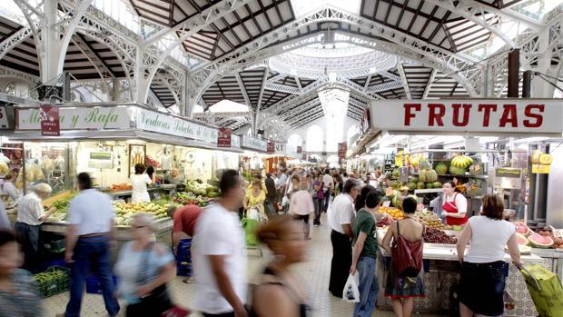 Imagen de archivo del Mercado Central de Valencia