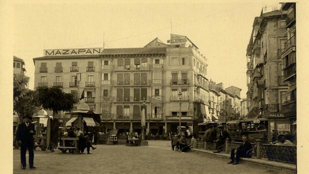 Imagen de la plaza de Zocodover de los años 20
