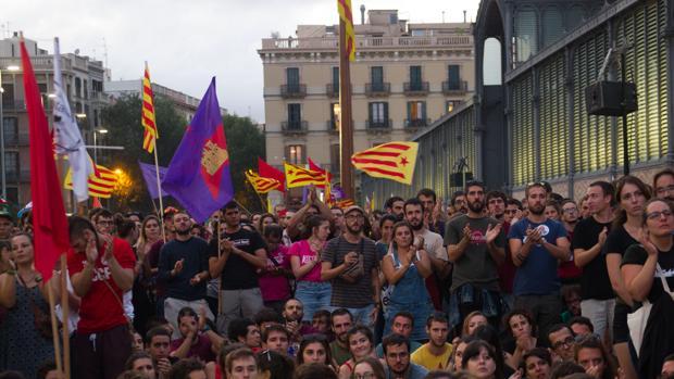 Manifestación de la CUP y Arran en Barcelona