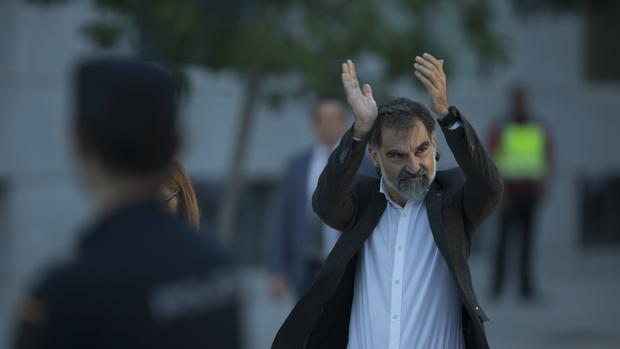 Jordi Cuixart, a su llegada a la Audiencia Nacional el pasado mes de noviembre