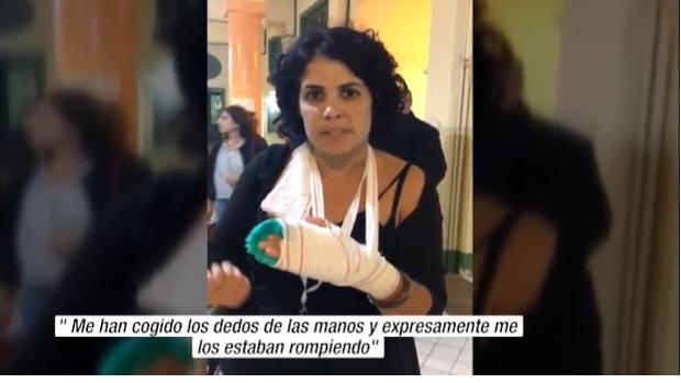Captura de pantalla en la que la mujer explicaba el caso