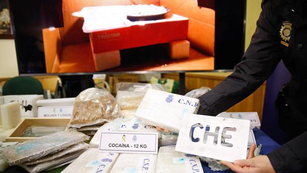 Imagen de la droga incautada por la Guardia Civil