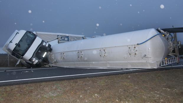 Accidente en la A-231 en Bustillo del Páramo (Palencia)