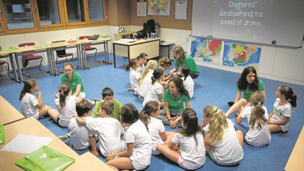 Aula de un colegio bilingüe en Madrid