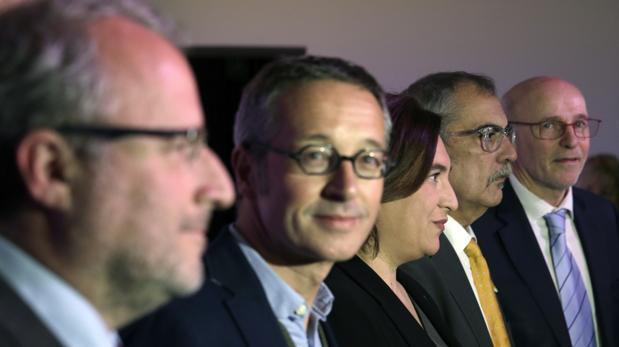 Durante la presentación del programa de actividades de la Fundación Mobile World Capital Barcelona