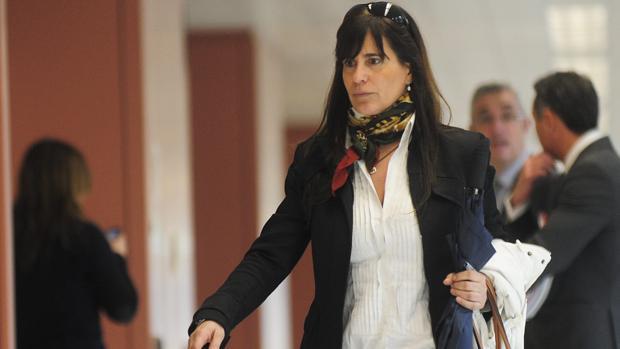 María Victoria Álvarez, en la Ciudad de la Justicia de Barcelona