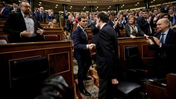 Rivera y Rajoy, en el Congreso