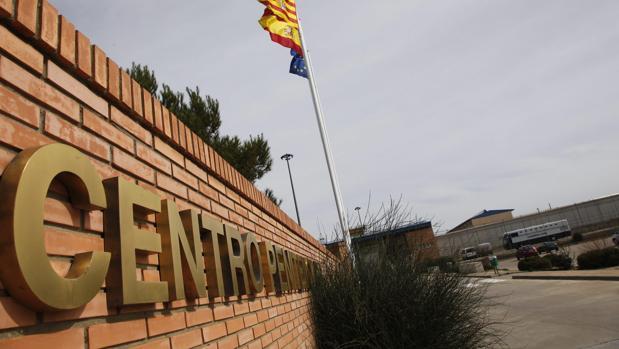 Zona de acceso a la prisión de Zuera (Zaragoza)