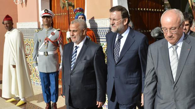 Mariano Rajoy, durante la visita oficial que hizo a marruecos en 2012