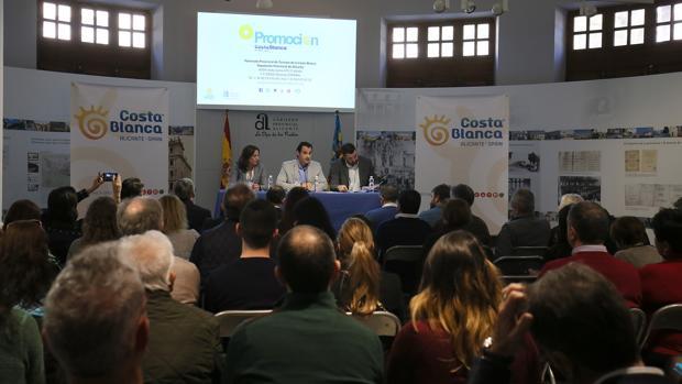 Presentación del plan de ayudas del Patronato Costa Blanca, este miércoles en Alicante