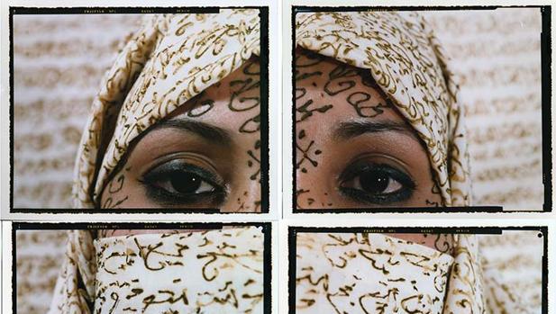 Rostro de una mujer de Marruecos