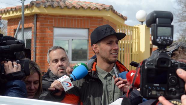 Víctor Rodríguez «Viti» a su salida de prisión