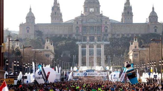 Imagen de la maratón de Barcelona