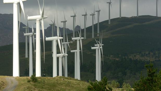 Parque eólico en Carnota (La Coruña)