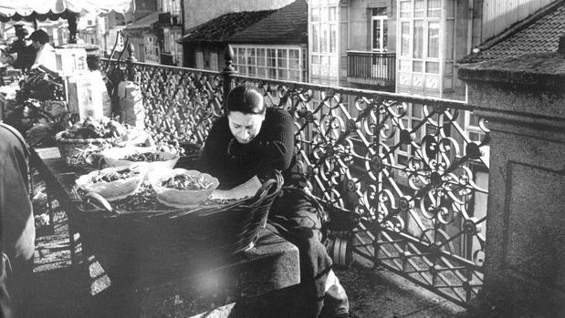 Vendedora de la plaza de abastos en el 1955