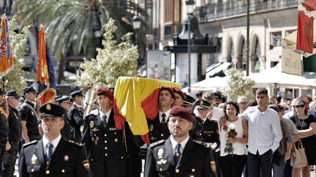 Imagen del funerla de Blas Gámez
