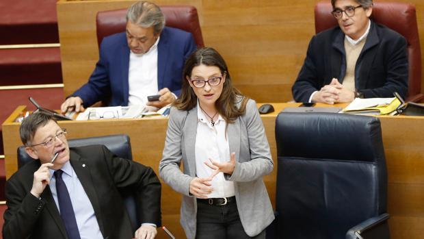 Mónica Oltra, en las Cortes Valenciana en una imagen de archivo