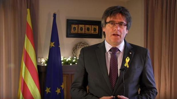 Puigdemont, durante su discurso