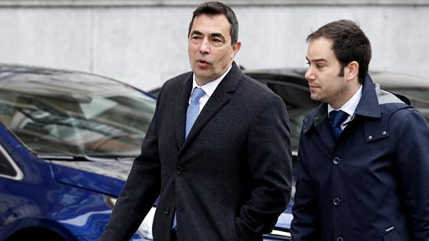 Pere Soler, a su llegada a la Audiencia Nacional