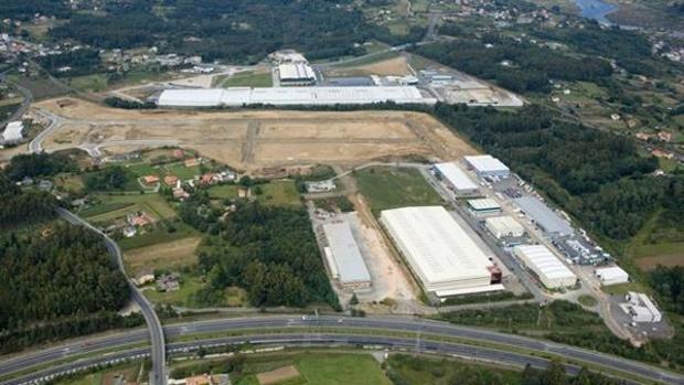 Vista aérea del polígono industrial de A Piadela