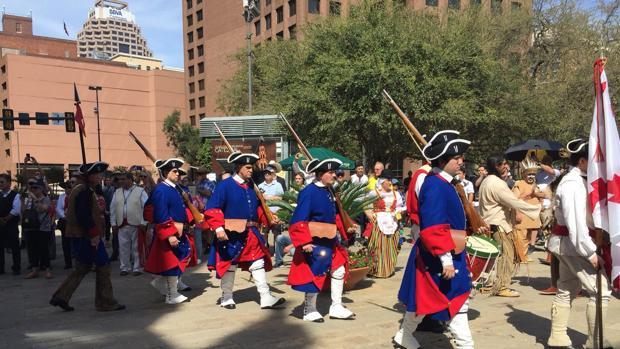 Recreación histórica este sábado en San Antonio de Texas con la presencia de indios