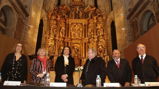 Presentación ayer en Aguilar de Campoo de la próxima edición de las Edades del Hombre, que se celebrará en esta localidad