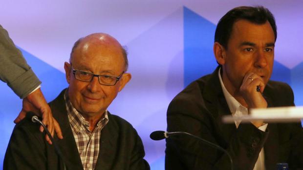 Cristóbal Montoro y Fernando Martínez-Maillo, en el acto del PP en Segovia