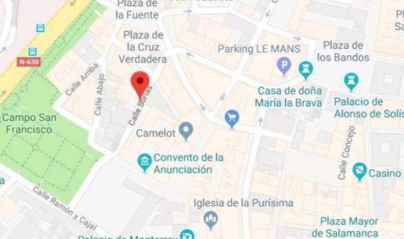 Calle Sorias en Salamanca