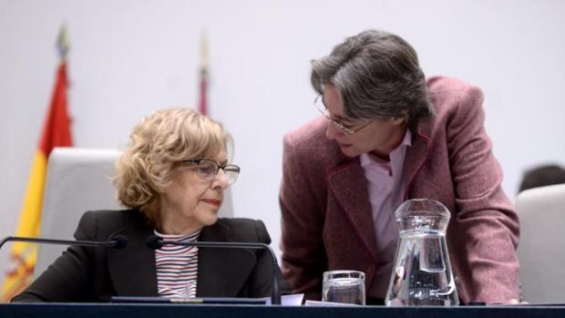 Carmena e Higueras, en el Pleno municipal