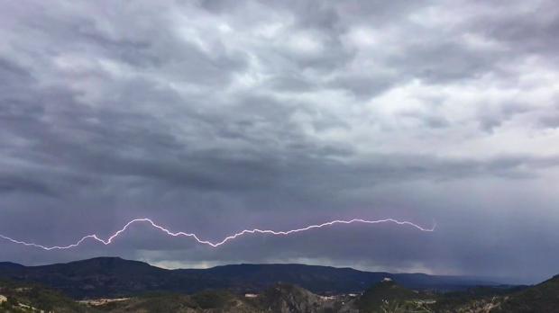 Imagen de la tormenta en Jalance