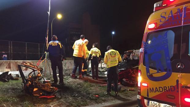 El accidente en el Paseo de Extremadura