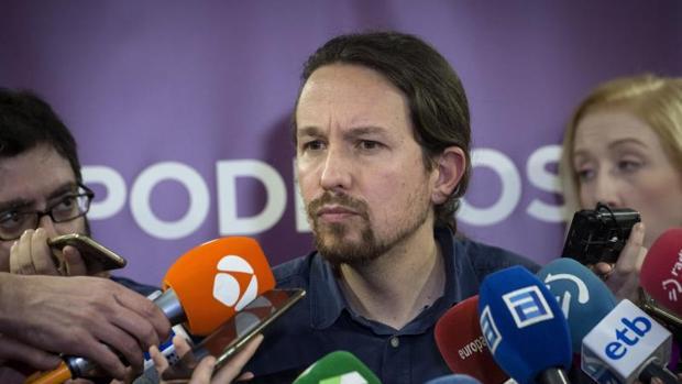 Pablo Iglesias, este sábado durante la celebración del Consejo Ciudadano Estatal de Podemos
