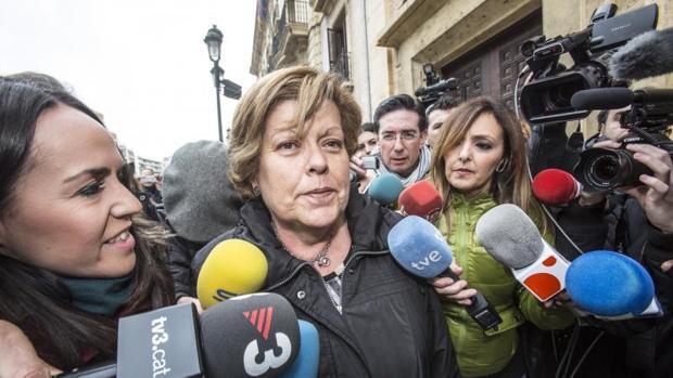 La exconsellera Milagrosa Martínez, hace un año al conocer su condena a 13 años de cárcel