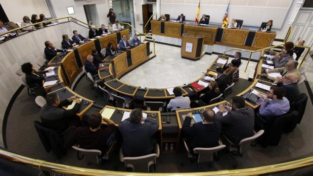 Sesión plenaria de la Diputación de Alicante